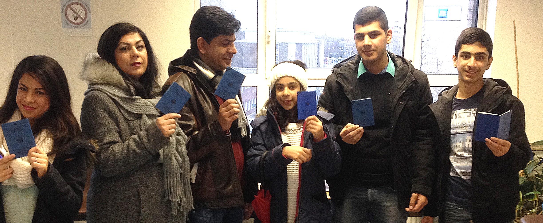 Blauer Pass Flüchtlingsrat Krefeld