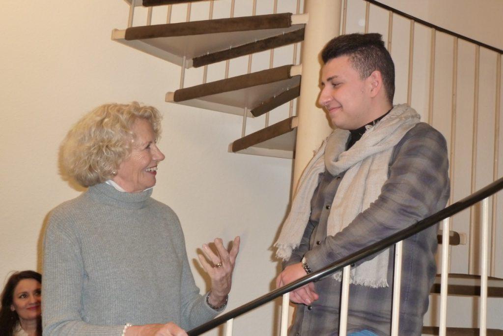Margret Schilling interviewt Muhannad Yabban